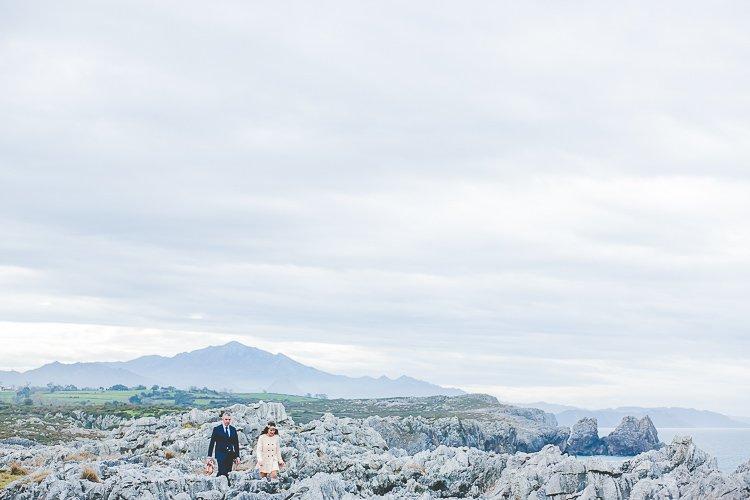Bea + Gerardo: Boda en el acantilado